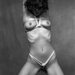 fetish bondage photo of naked woman with rope